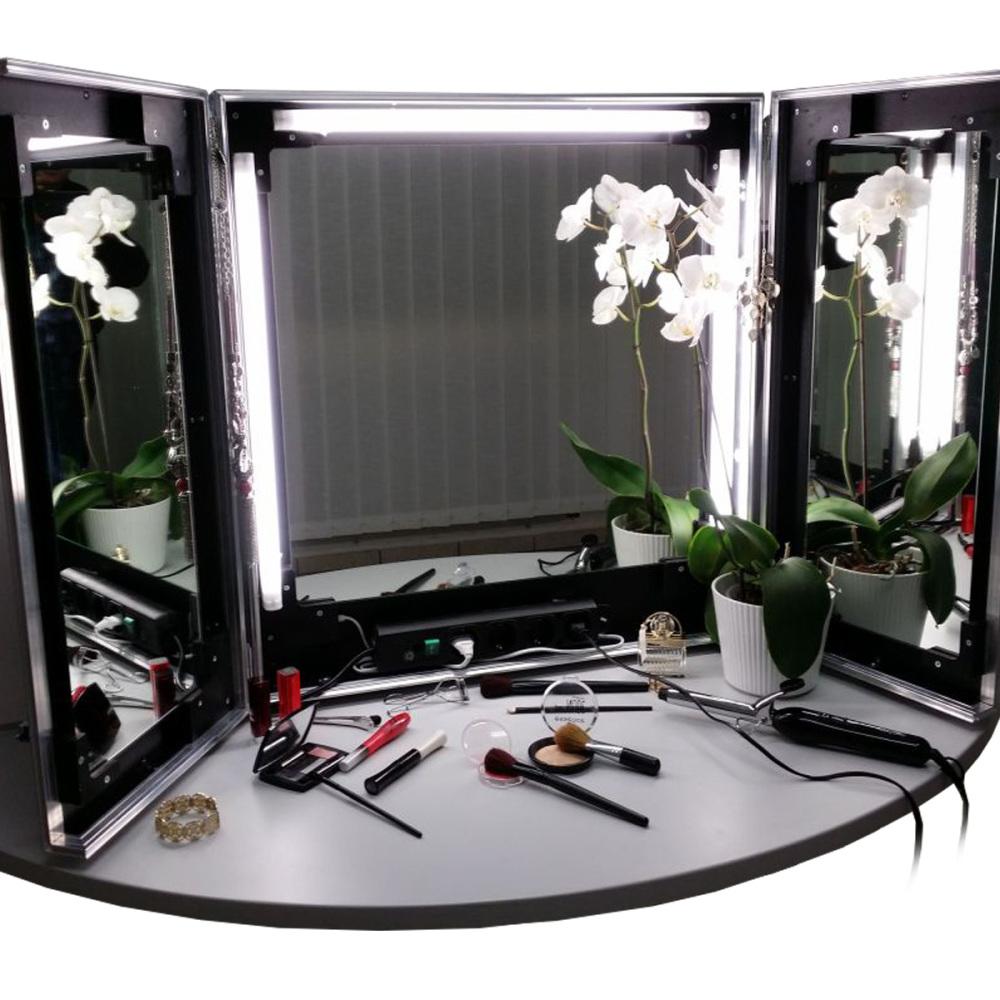 professioneller mobiler schminkspiegel mit beleuc. Black Bedroom Furniture Sets. Home Design Ideas